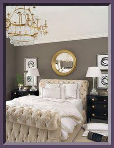 Love a dark gray bedroom