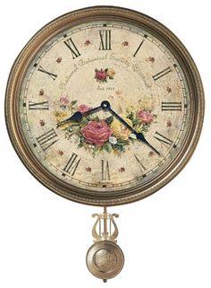 Howard Miller 620-440 Savannah Botanical VII Wall Clock