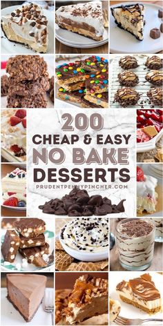 Cheap Dessert Recipes, Easy No Bake Desserts, Summer Desserts, Delicious Desserts, Cook Desserts, Baking Recipes, Cookie Recipes, Fruit Recipes, Peanut Butter No Bake
