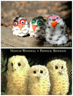 Owl Babies and Pine cone Snowy Owl Craft. Serious cuteness and a great lesson plan.