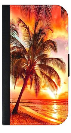 Golden Orange Glow Palm Tree Sunset- Wallet Case for the Apple Iphone 6 only Universal with a Flap Cover and Magnetic Closing Flap-PU Leather and Suede. Fits the Iphone 6 only. High Quality Leather-Look Wallet Case with a flap cover and credit card slots. Bold, Clear and Everlasting Flat Image. Quick Shipping. Great customer service! Satisfaction Guaranteed!.