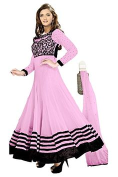 This Unstiched Pink Colour Dress Material is Knee Length Straight Fit With Full Sleeve.It Include Pink Colour Dupatta With 4 Sides Lace. It Has 2.50 Mtrs Cloth For Bottom.It is a Free Size Dress Material Which Can be Stiched Upto XXL Size,Ie. 44 Inches.Fabrics: Top- Georgette,Bottom-Crepe,Inner-Crepe,Dupatta-Chiffon Nazmeen.