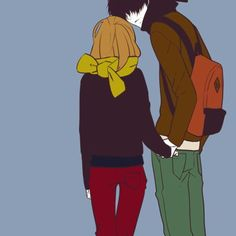 Cute Anime Couple 身長差カップルの画像 プリ画像