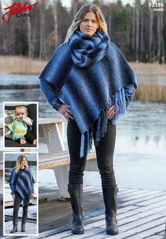 DE92196 - Ein Poncho für Gross und Klein & ein Loop Anleitungen Hippie Man, Crochet Stitch, Crochet Pattern, Tweed, Vest, Poses, Knitting, Chic, Casual