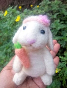 Needle felted bunny, realistic animal sculpture, easter rabbit, cute bunny gifts #handmade #Easter
