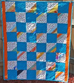 Baby quilt Raindrops by peachga11 on Etsy, $85.00
