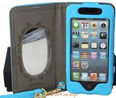Leather purse mirror  iPhone 4 s case iPhone 5 case by Case009, $25.99