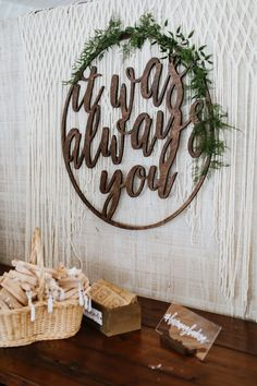 Elegant + rustic signage and decor featured at this charming wedding reception | Image by Pat Furey Photo