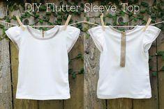 Very Homemade: DIY Flutter Sleeve Shirt