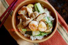 shrimp and chicken donburi