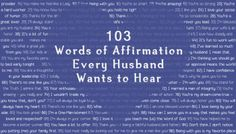 FREE Printable: 103 Words of Affirmation Every Husband Wants to Hear