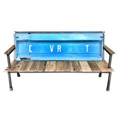 Blue Collar Bench VI, $849, now featured on Fab.