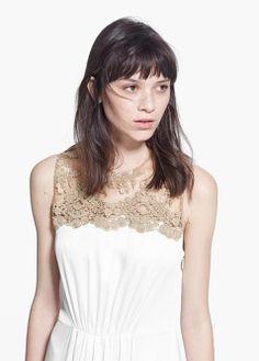 Paisley long dress - Dresses for Women   MANGO