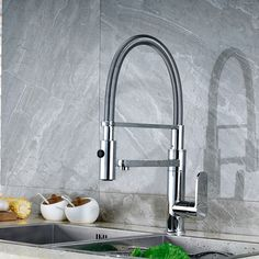 88.50$  Watch here - http://alihej.worldwells.pw/go.php?t=32707720724 - Factory Retail Best Price Chrome Finish Deck Mounted Kitchen Spring Mixer Faucet 88.50$