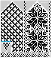 Ravelry: Norwegian Rose - Selbu mittens pattern by Katrine Knitted Mittens Pattern, Fair Isle Knitting Patterns, Crochet Mittens, Knitting Charts, Knitted Gloves, Knitting Stitches, Knitting Socks, Fair Isle Chart, Norwegian Knitting