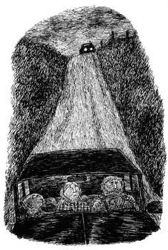 Edward Gorey from The House With a Clock in its Walls by John Bellairs