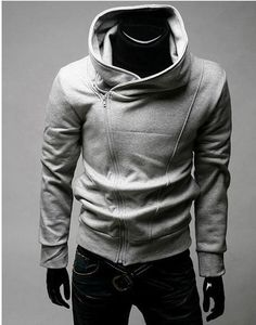 Casual Style Zipper Embellished Long Sleeves Polyester Hoodies For ...
