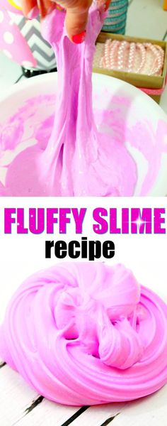 How to Make Fluffy Slime SUPER STRETCHY! This Fluffy slime is great for sensory play, making ASMR, satisfying sounds and stress relief. It is really good slime! I have made something like it ages ago, but it doesn't always work. It is very tricky! Diy Fluffy Slime, Fluffy Slime Recipe, Making Fluffy Slime, Easy Slime Recipe, Making Slime, Slime Craft, Diy Slime, Borax Slime, Projects For Kids