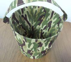Basket Military Camouflage Basket Vintage by shoponwebstreet