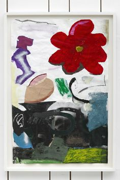Torey Thornton, Unmashed Bowl #1, 2013, Mixed media and collage, on paper, 26 x 16.5 inches