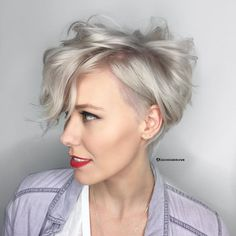 """1,319 Likes, 36 Comments - Hairstylist • Huntington, CA (@bleachedandblown) on Instagram: """"Little Miss Pixie  Bleach and tone with @brazilianbondbuilder to keep her hair strong Tone…"""""""