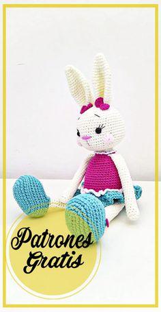 Easy Crochet Patterns, Crochet Patterns Amigurumi, Crochet Toys, Amigurumi Free, Crochet Bunny, Tigger, Animals And Pets, Plush, Dolls