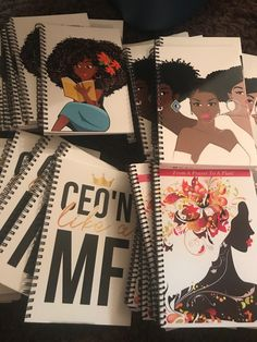Melanin and Black Girl Magic inspired Journals and Planners!  Planner Addicts, or if you LOVE to Journal, Journal in style with this natural hair inspired, Boss chick named, and Melanin Poppin Journals! Check out the website! https://authorbmhardin.com/collections/custom-journals-notebooks