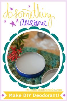 Two ingredient natural homemade deodorant is a frugal fix for keeping you fresh all day long.