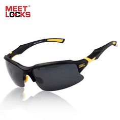 f610d967c24 Buy MEETLOCKS Bike Cycling Glasses Sports Sunglasses UV 400 Polarized Lens  for Fishing Golfing Driving Running Eyewear with case
