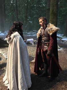 "User Actions     Follow    Snow and Charming running lines. Behind the scene. season 4 episode 13 ""Unforgiven"""