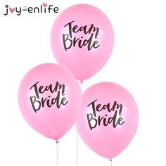 JOY ENLIFE 10pcs Romantic Lovely Team Bride Round Latex Balloon Valentine's Day Hen Night Wedding Bachelorette Party Decor-in Ballons & Accessories from Home & Garden on Aliexpress.com   Alibaba Group