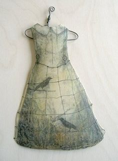 November in Seattle means lots of rain, wind and fog… perfect conditions for hunkering down in the studio and playing with materials. I have been making paper dresses this week and dipping them into encaustic medium (bee's wax & resin).  Alicia Tormey | Series: Paper Dresses - nealsquare