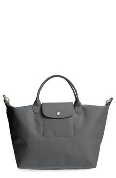 7597527f6cdd LONGCHAMP  MEDIUM LE PLIAGE NEO  NYLON TOTE - GREY.  longchamp  bags   leather  hand bags  nylon  tote