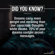 Carry More Weight And Meaning - Dreams Carry More Weight And Meaning – themindsjournal.c… -Dreams Carry More Weight And Meaning - Dreams Carry More Weight And Meaning – themindsjournal. Dream Psychology, Psychology Says, Psychology Fun Facts, Psychology Quotes, Forensic Psychology, True Interesting Facts, Interesting Facts About World, Intresting Facts, Weird Facts About Dreams