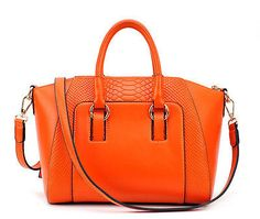 Sac à Main  Haute Qualité Femme Orange - Déstockage