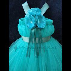 Flower Girl Dress, Tutu, Tutus, Portrait Dress, Weddings, Flowergirl, Summer, Spring, Winter, Fall, Teal Flower Girl Dress