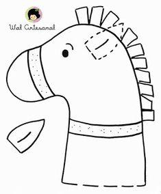 "Képtalálat a következőre: ""sv. martin na bílém koni pracovní list"" Felt Patterns, Stuffed Toys Patterns, Craft Patterns, Horse Party, Cowgirl Party, Horse Crafts, Animal Crafts, Cowboy Crafts, Anniversaire Cow-boy"