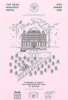 hotel poster 75 Minimalist Movie Posters to Inspire You - Layerbag Film Poster Design, Movie Poster Art, Poster S, Graphic Design Posters, Film Posters, Grand Budapest Hotel Poster, Hotel Budapest, La Famille Tenenbaum, Wes Anderson Movies