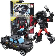 "Hasbro Year 2015 Transformers Generations Combiner Wars Series 6"" Tall Robot Figure - Autobot TRAILBREAKER with Battle Axe, Sky Reign's Foot and Comic Book (Vehicle Mode: SUV)"