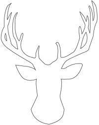 deer head stencil - Google Search