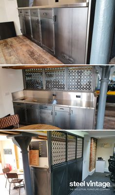 Discover the Workshop Kitchen Range by Steel Vintage. Vintage Kitchen Cabinets, Solid Doors, Open Face, Bespoke Kitchens, Wall Units, Kitchen Units, Cupboard Doors, Furniture Companies, Industrial Furniture