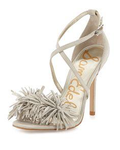 5904504e5 Sam Edelman Aisha Suede Fringe High-Heel Sandal