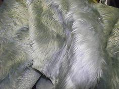 Faux Fur Fabric SILVER GREY - All Sizes Bulk Discounts FREE POST
