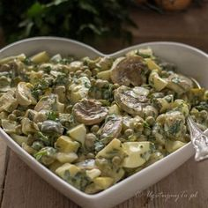 Polish Recipes, Polish Food, Healthy Salad Recipes, Coleslaw, Potato Salad, Appetizers, Food And Drink, Cooking Recipes, Yummy Food