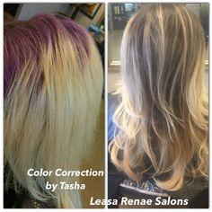 Hair correction by Tasha Watkinson  @Leasa Renae Salons