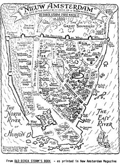New Amsterdam map. NYC.