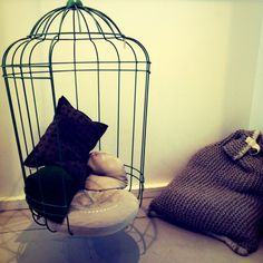 Hanging birdcage chair...I need you!