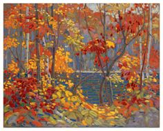 The Pool - an autumn scene, by Tom Thompson, the inspiration for the Group of Seven.