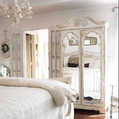 My original inspiration from that magazine!  Beautiful mirrored armoire