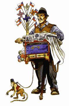 Personaje típico, El organillero Folk, Arte Popular, Chi Chi, Patagonia, Peru, Captain America, Childhood Memories, Superhero, History